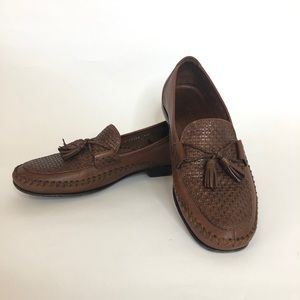 Cole Haan Country D11198 Brown Woven Leather Flats